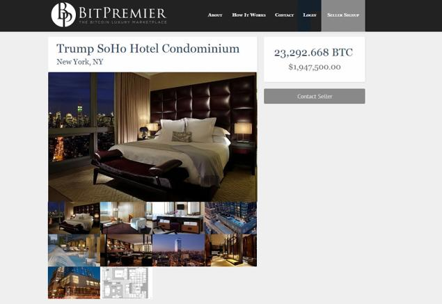 bitcoin and luxury real estate