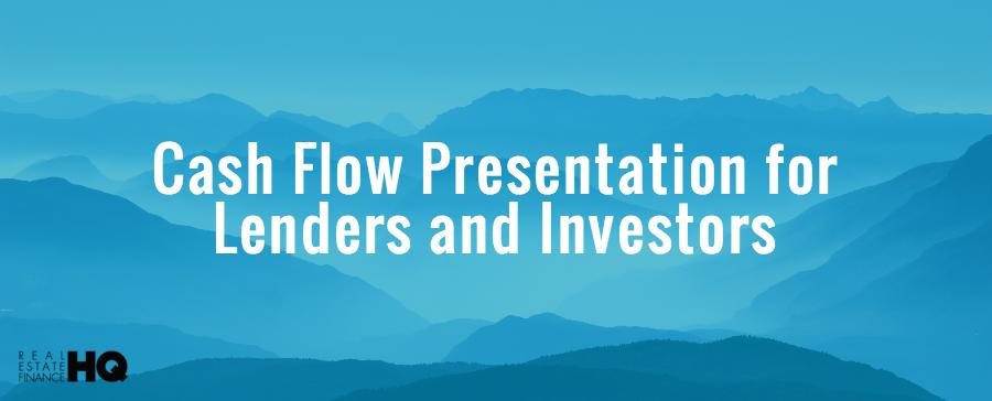 cash flow presentation .xls for a portfolio loan and real estate investors