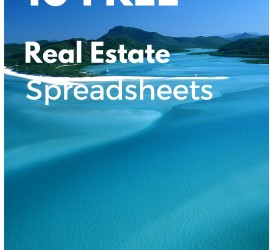free real estate spreadsheets .xls