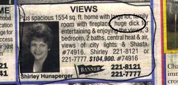 funny real estate listing