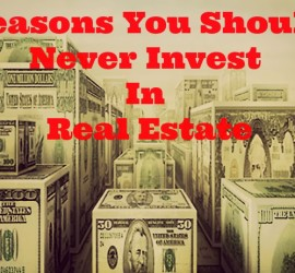 reasons you should never invest in real estate - funny pic