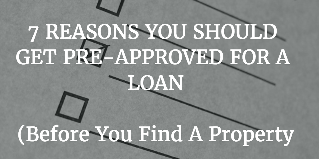 get pre-approved for a real estate loan