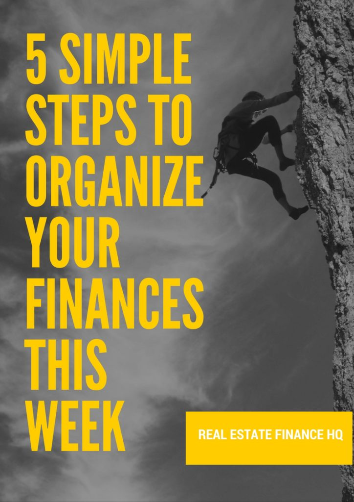 simple steps to organize your finances this week